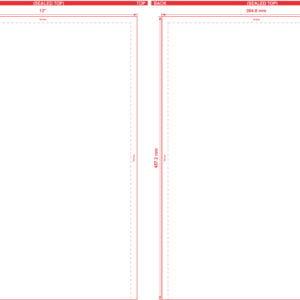 12x18 Open End Flat Pouch Dieline