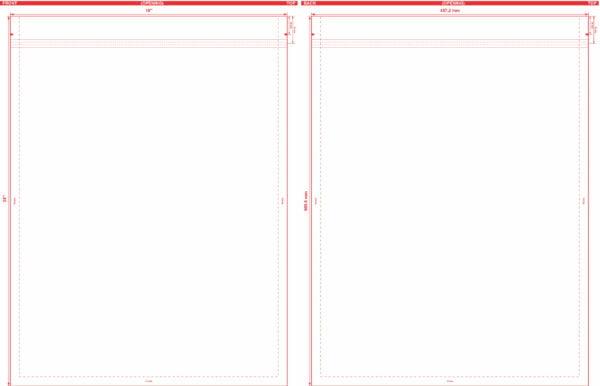 18″ x 24″ Flat Pouch Dieline