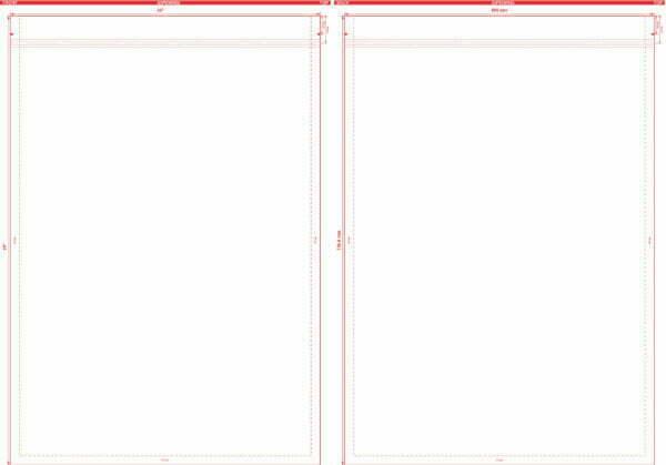 20″ x 29″ Flat Pouch Dieline
