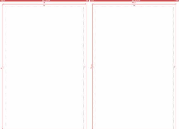 20″ x 30″ Open End Flat Pouch Dieline