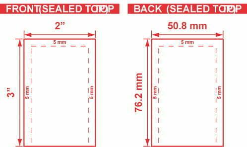 2x3 - Open End Flat Pouch Dieline