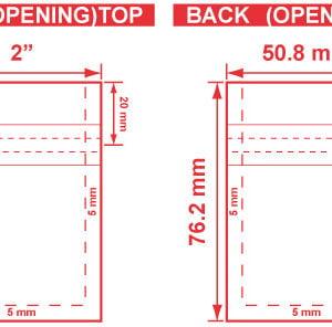 2x3 Flat Pouch Dieline