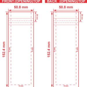 2x6 Flat Pouch Dieline