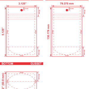 3.125x5.125x2 Clearbags Stand Up Pouch Dieline