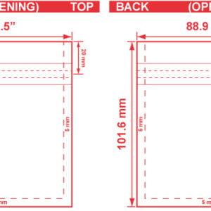 3.5x4 Flat Pouch Dieline