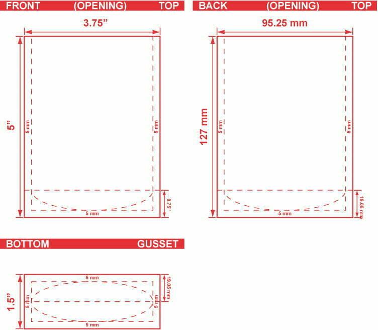 3.75x5x1.5 Stand Up Pouch Dileine