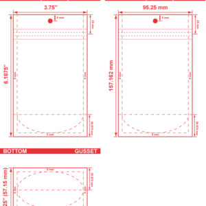 3.75x6.1875x2.25 Clearbags Stand Up Pouches Dieline