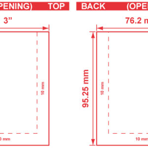 3x3.75 3 Seal Flat Pouch Dieline