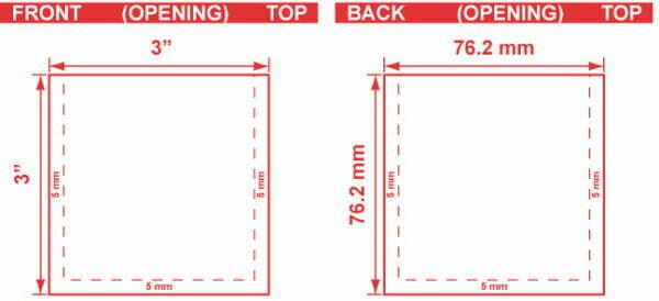 3x3 3 Seal Flat Pouch Dieline