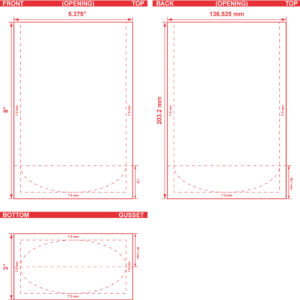 5.375x8x3 Stand Up Pouch