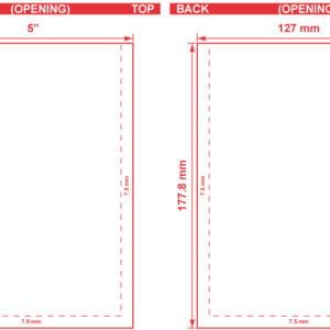 5x7 Open End Flat Pouch Dieline