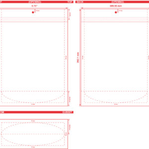 8.75x11.5x3.5 Clearbags Stand Up Pouch Dieline